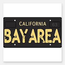 Bay Area calfornia old license Square Car Magnet 3