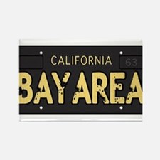 Bay Area calfornia old license Rectangle Magnet
