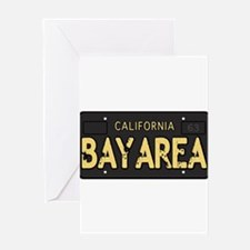Bay Area calfornia old license Greeting Card