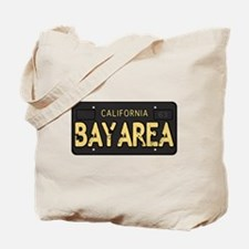 Bay Area calfornia old license Tote Bag