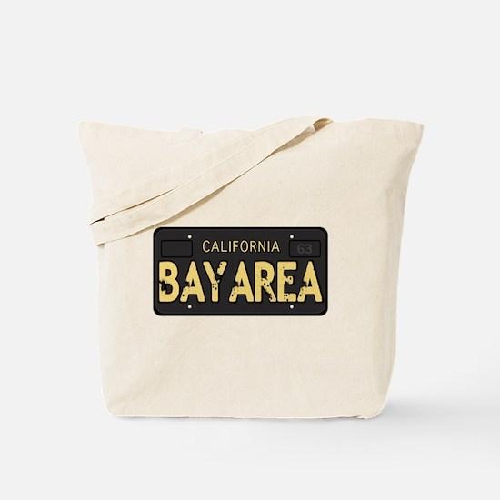 Bay Area calfornia old license Tote Bag