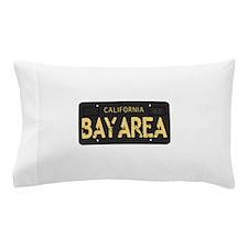 Bay Area calfornia old license Pillow Case