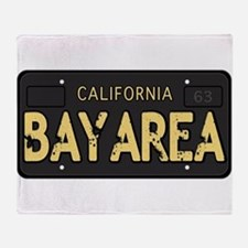 Bay Area calfornia old license Throw Blanket