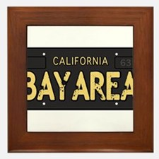 Bay Area calfornia old license Framed Tile