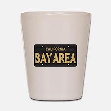 Bay Area calfornia old license Shot Glass