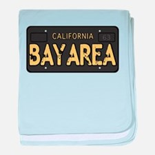 Bay Area calfornia old license baby blanket
