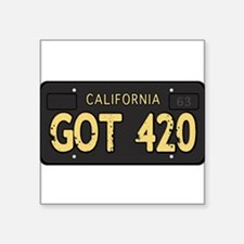 Old cal license 420 Sticker
