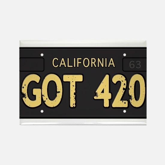 Old cal license 420 Rectangle Magnet