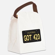 Old cal license 420 Canvas Lunch Bag