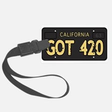 Old cal license 420 Luggage Tag