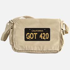 Old cal license 420 Messenger Bag