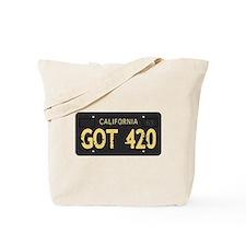 Old cal license 420 Tote Bag