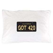 Old cal license 420 Pillow Case