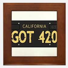Old cal license 420 Framed Tile