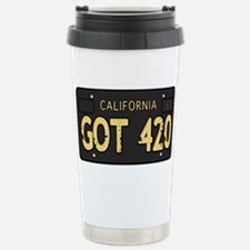 Old cal license 420 Travel Mug