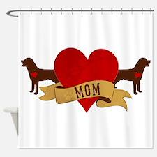 Rottweiler Mom Shower Curtain