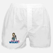 Girl Scientist Boxer Shorts