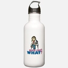 Girl Scientist Water Bottle