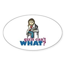 Girl Scientist Decal