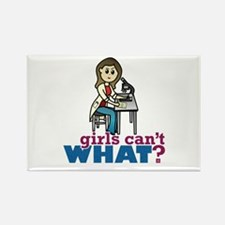 Girl Scientist Rectangle Magnet