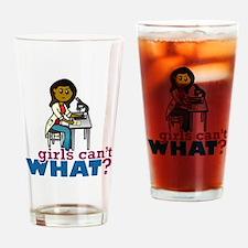Woman Scientist Drinking Glass