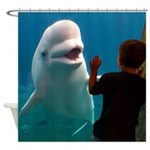 Porpoise and Boy Shower Curtain