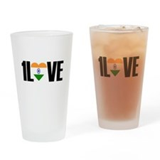 1LOVE INDIA Drinking Glass