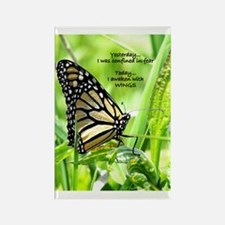 Thinking Butterfly Rectangle Magnet
