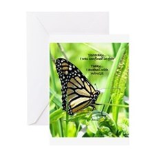 Thinking Butterfly Greeting Card