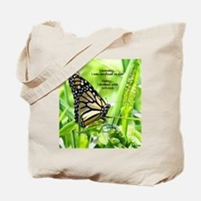 Thinking Butterfly Tote Bag