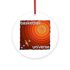 Basketball Universe Ornament (Round)