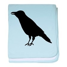 Crow Raven baby blanket