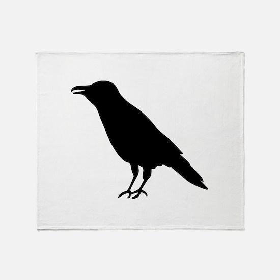 Crow Raven Throw Blanket