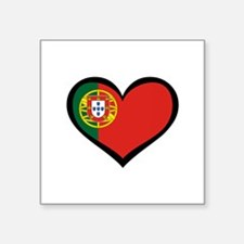 Portugal Love Portuguese Hear Sticker (Rectangular