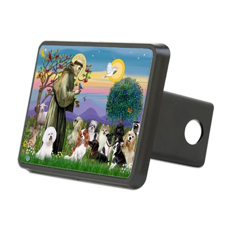 StFrancis-10 dogs Rectangular Hitch Cover