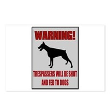 Trespassers Fed To Dogs Postcards (Package of 8)