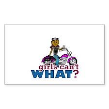 Biker Woman Decal