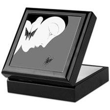 Art Deco Lady And Butterfly Keepsake Box