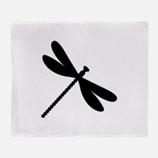 Dragonfly insect Throw Blanket