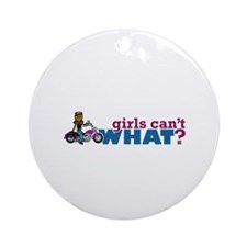 Biker Girl Ornament (Round)