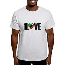 1LOVE ST.KITTS NEVIS T-Shirt
