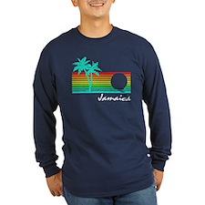 Jamaica Vintage Distressed Design Long Sleeve T-Sh