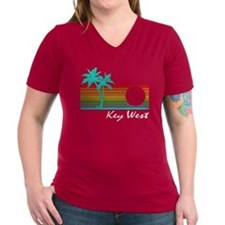 Key West Vintage Distressed Design T-Shirt