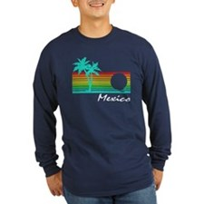 Mexico Vintage Distressed Design Long Sleeve T-Shi