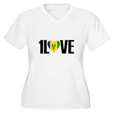 1LOVE ST.VINCENT Plus Size T-Shirt