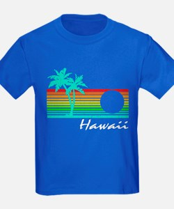 Vintage Hawaii Distressed Design T-Shirt