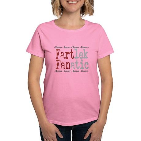 Funny FARTlek FANatic © Women's Dark T-Shirt