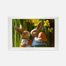 Easter Bunnies Rectangle Magnet (100 pack)
