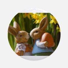 Easter Bunnies Ornament (Round)