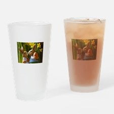 Easter Bunnies Drinking Glass